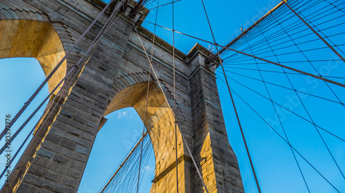 Montage in der Fensternische Brooklyn Bridge The Brooklyn Bridge from different perspectives.