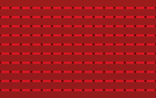 3d Rendering. Seamless Matalic Modern Red Square Shape Pattern Tiles Wall Design Texture Background.