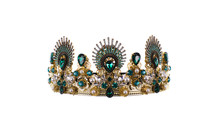 Gold Crown With Emeralds,ottom...