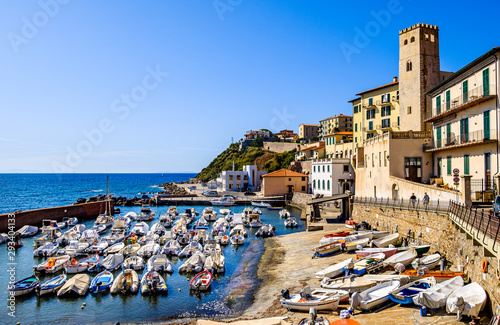 harbor of piombino in italy