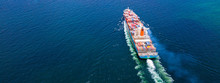 Cargo Ships With Full Container Receipts To Import And Export Products Worldwide