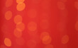 canvas print picture - Abstract blurred shiny bokeh lights red background