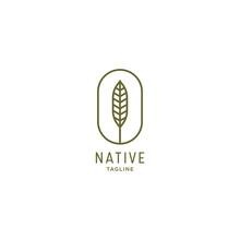 Native Logo Icon Design Templa...