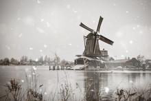 Zaanse Schans Windmills Rural ...