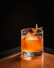 Manhattan Cocktail At Cocktail Bar
