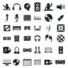 Dj Icons Set. Simple Set Of Dj...