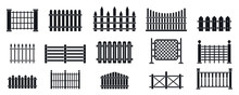 Fence Icons Set. Simple Set Of...