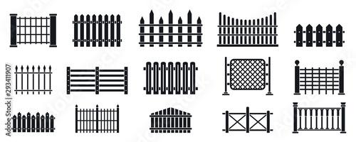 Fotografie, Tablou Fence icons set