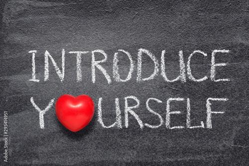 Fotografía introduce yourself heart