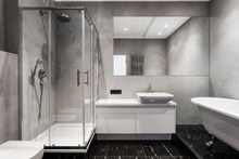 Modern Interior Of New Bathroo...