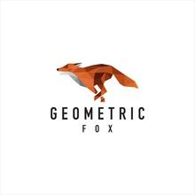 Fox Logo - Geometric Sign - Vector Logo Sign