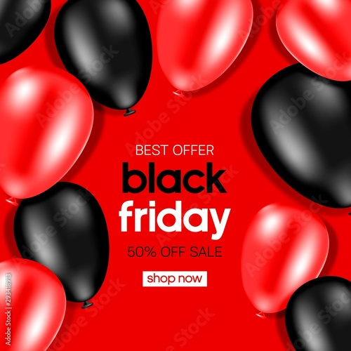 Black Friday Sale banner. Huge Discount banner.