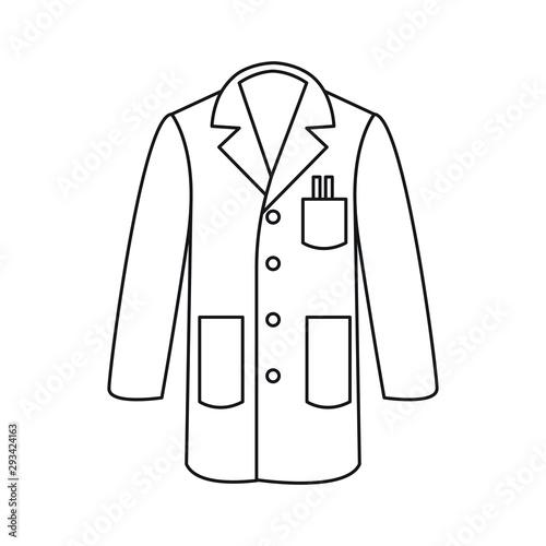Fotografia, Obraz Line icon lab coat vector