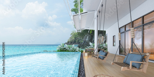 Photographie  Sea view swimming pool