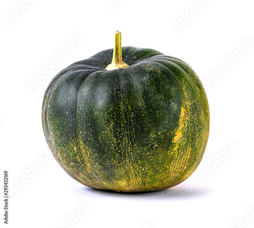 overripe green pumpkin isolated on white background Tablou Canvas