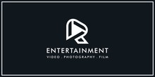 Abstract Logo Letter R. For Companies Making Videos, Films, Photography, Television Etc.