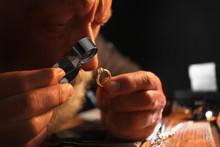 Male Jeweler Evaluating Diamon...
