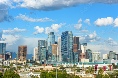 Fototapety, obrazy: Downtown Los Angeles skyscrapers skyline at sunny day