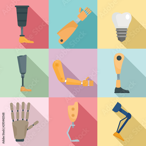 Artificial limbs icons set Obraz na płótnie