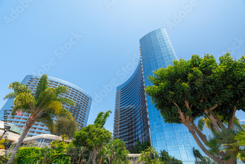 Valokuva  San Diego Downtown District. Modern Architecture, Low Angle View