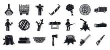 Deforestation Icons Set. Simple Set Of Deforestation Vector Icons For Web Design On White Background