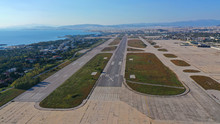 Aerial Photo Of Old Abandoned Airport Of Elliniko No Longer In Operation In Athens Riviera, Attica, Greece