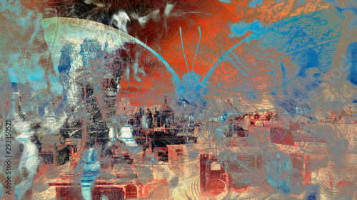 Printed kitchen splashbacks Butterflies in Grunge grunge butterfly texture