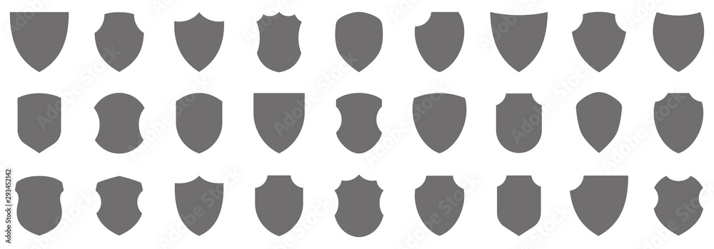 Fototapeta Shield icons collection. Protect shield vector