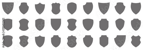Fotografie, Obraz Shield icons collection. Protect shield vector