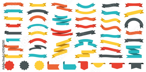 Obraz Different colored ribbons collection. Vector - fototapety do salonu