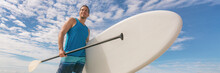 Paddle Board SUP Fit Man Carry...