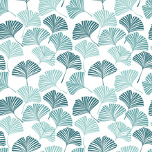 Seamless Pattern With Ginkgo B...