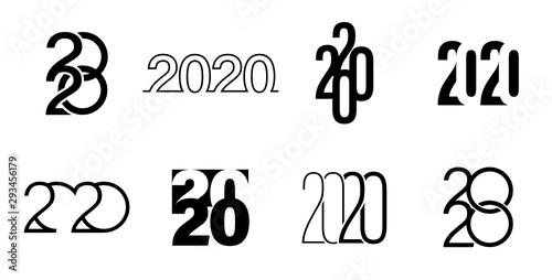 Fototapeta Graphisme calendrier et vœux 2020 obraz