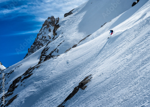 Italy, Rhemes-Notre-Dame, Benevolo, ski mountaineering, downhill