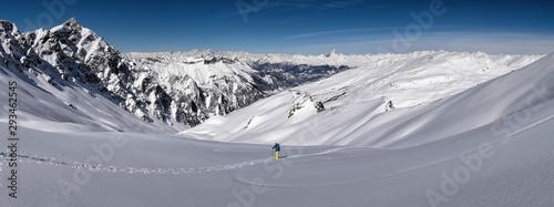 France, Hautes Alpes, Queyras Nature Park, Saint Veran, Tete de longet, ski mountaineering