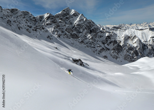France, Queyras, Nature Park, off-piste skiing