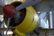 Detail Of Fighter Aircraft Eng...
