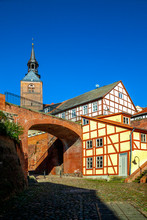 Germany, Tangermunde, Buildings In Old Town