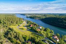 Aerial View Of Valdemarsvik In...