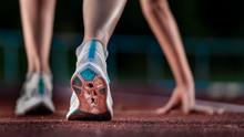 Legs Of Female, Athlete Runnin...