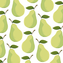 Isolated Pear Background Vecto...