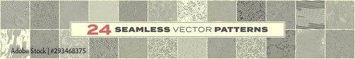 Photo Abstract seamless pattern backgrounds, vector memphis liens and dots texture