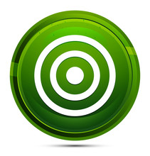 Target Icon Glassy Green Round...