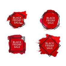 Set Of Black Friday Sales Bann...