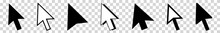 Cursor | Mouse Arrow Icon | Computer Mouse Pointer | Isolated Transparent | Click Variations