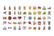 bundle bavarian festival with set icons