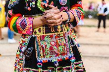 Detail Of The Colorful Embroid...