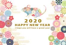 2020年子年 和風花柄