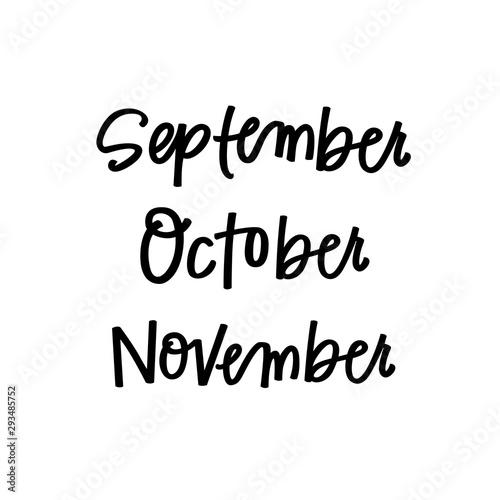 Fotografie, Obraz  Fall months