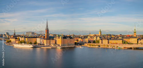Foto auf Gartenposter Stockholm Panoramic view of Gamla Stan of Stockholm